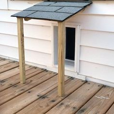 Doggy Door Design Idea Inspiration With Small Covered Roof Porch - Annett Huber