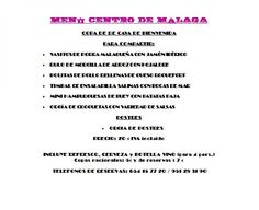 Menú económico Básico para despedida de soltero soltera en Málaga centro