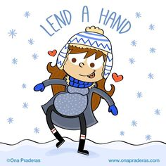I didn't realize how pregnancy and snow would be a complex thing to deal with... If you ever see a prego walking slowly have some empathy, please. They are just trying not to fall on their faces and keep their precious little one safe! #babybump #pregnancy #pregnancyproblems #winterpregnancy #lendahand