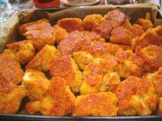 Chci se tu se začínajícími kuchařinkami podělit o vyzkoušený a osvědčený návod na smažení. Maso obalíme klasicky v trojobalu, do vajíček dávám... My Favorite Food, Favorite Recipes, Cauliflower, Cooking Recipes, Chicken, Vegetables, Ethnic Recipes, Recipes, Per Diem