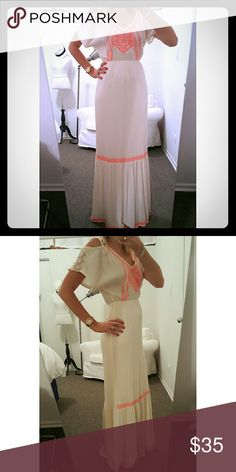 NWOT Beautiful Maxi Dress I've never worn this, and that's why I'm selling it, lol. It's  beautiful, no flaws, brand new without the tags. Will post more pics upon request. Flying Tomato Dresses Maxi