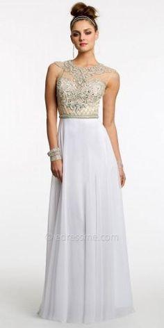 Chiffon Keyhole Illusion Prom Dress by Camille La Vie  #dress #dresses #fashion #designer #camillelavie #edressme