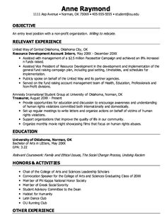 example of major entry level resume httpexampleresumecvorgexample
