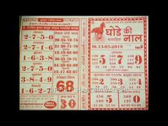 compatibility chart Kalyan Ratri Chart Kalyan Matka Chart With Panel in 2020