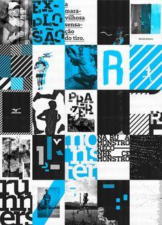 Mizuno Monster Runners Wake up to run? Sports Graphic Design, Graphic Design Posters, Sport Design, Grid Design, Layout Design, 80s Design, Layout Inspiration, Graphic Design Inspiration, Banners