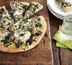 Kale, Sausage & Taleggio Pizza