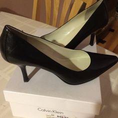 Calvin Klein sz 8 black pumps Calvin Klein sz 8 sexy pump  Worn 3x like new. Original box Calvin Klein Shoes Heels