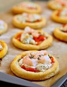 Shrimp & Goat Cheese Tarts: Light & Easy Holiday Appetizer This but without the shrimp and goat cheese.