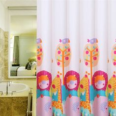 Elegant Kids Owl Shower Curtain