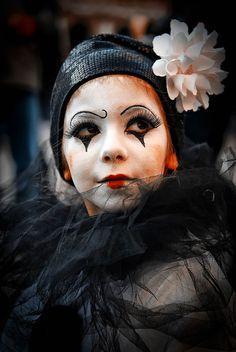 Pierrot: Photo by Photographer daniele manfredini Le Clown, Clown Faces, Circus Clown, Circus Theme, Vintage Circus, Vintage Carnival, Pierrot Costume, Pierrot Clown, Clown Makeup