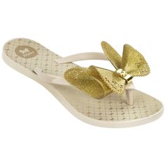 Fresh Butterfly Gold Glitter Style with a romantic concept inspired by fairy tales! This flip flop is stunning - with delicate butterfly detailing on the insole, and a Zaxy metallic gold butterfly clasp to complete the elegant look!
