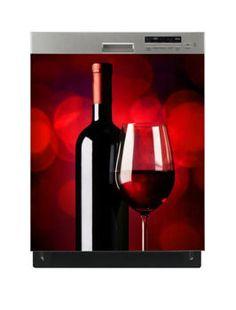 Naklejka na zmywarkę - Czerwone wino 6518