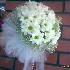 Beyaz Krizantem Gelin eli çiçeği - Gelin Eli,Gelin buketi,Gelin Taci,Gelin Duvak