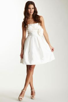 how cute would this be as a reception / party dress at a wedding??  Strapless crumb catcher dress by Eliza J $79 on Hautelook