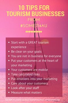 10 tourism marketing tips for tourism business from Social Media Tourism Symposium 2014 #SoMeT14AU