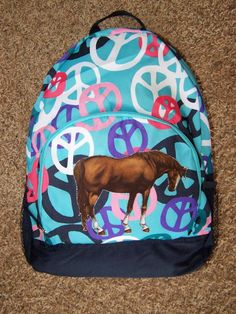 87b7d1c15b32 NWT Girls HORSE Backpack~OLD NAVY~Running Horses ~Back To School New