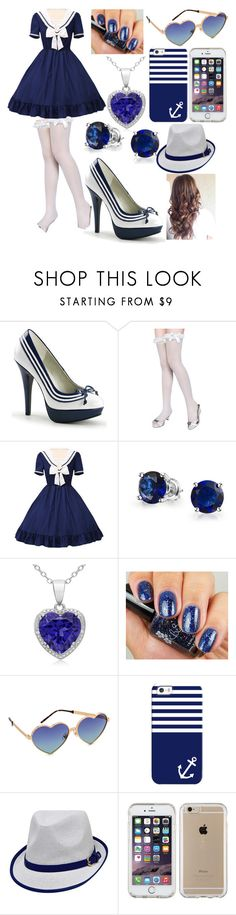 """""""Featured Item: Navy & White Patent Lolita Heels"""" by kiara-fleming ❤ liked on Polyvore featuring Bling Jewelry, Wildfox, Casetify and Speck"""