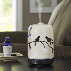 The Better Homes & Gardens Birds and Branches 100 mL Essential Oil Diffuser lets you enjoy the pleasure of aromatherapy while treating the eye with. Aroma Diffuser, Essential Oil Diffuser, Essential Oils, Aromatherapy Diffuser, Home Fragrances, Better Homes And Gardens, Branches, Home And Garden, Walmart