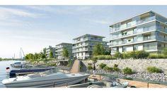Eingebettet in die grüne Uferlandschaft, zwischen Wasser, Weite, Grün, Segelbooten und großen Krähnen, entsteht ein aus 10 Einzelobjekten bestehendes Gebäude-Ensemble mit direktem Zugang zum Altrheinbogen und den zugehörigen 30 exklusiven Bootsliegeplätzen. JOY am Ufer von Pro Concept.