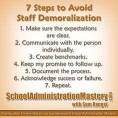 7 Steps to Avoid Staff Demoralization - Avoiding Sanctioned Incompetence