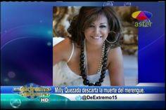 Milly Quezada descarta la muerte del merengue