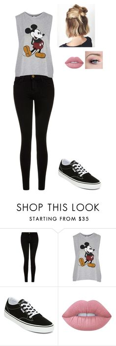 """u know it"" by crazibunniz on Polyvore featuring Current/Elliott, Topshop, Vans and Lime Crime"