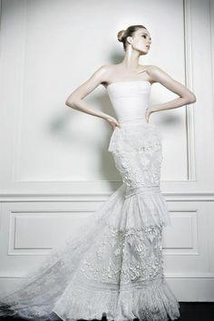 Stunning no sleeves Celia Kritharioti wedding dress