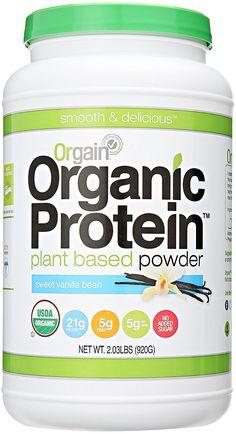 Orgain Organic Plant Based Protein Powder, Sweet Vanilla Bean, 2.03 Pound, 1 Count