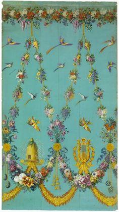 Jean-François Bony (Givors, 24 février 1754 - Paris, 1825) (dessinateur), Grand projet de tenture exécuté à l'échelle, Lyon, vers 1810. MT 1125. Achat Reybaud, 1862 © Musée des Tissus, Pierre Verrier