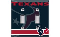 Houston Texans Double Light Switch Cover by Crazy8Zdecor on Etsy