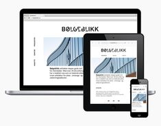 Logotype and responsive website designed by Tank for architecture firm Bølgeblikk.