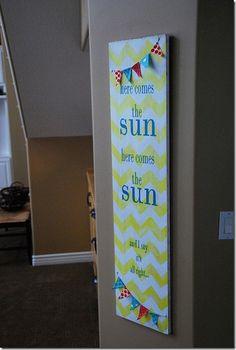 Here Comes the Sun - chevron art  :)
