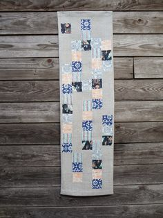 Runner by Blueberry Patch using assorted designer fabrics from Warp & Weft | Exquisite Textiles