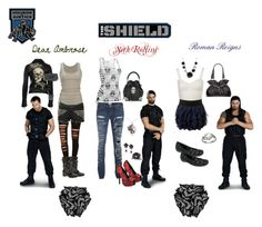 """""""Female Version of the Shield"""" by riotdoll24 ❤ liked on Polyvore featuring R13, American Eagle Outfitters, JADED by KNIGHT, Call it SPRING, Zadig & Voltaire, ASOS, Ed Hardy, Alexander McQueen, Iron Fist and Current/Elliott"""