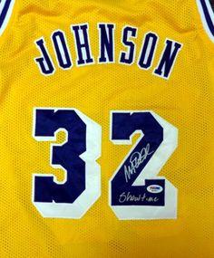 19a4b35968c5 Magic Johnson Autographed LA Lakers Jersey Showtime PSA DNA  M69817