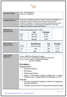 2 Page Resume Format Good Resume Format For Experienced #571  Httptopresume