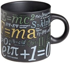 Alert to all nerds and geeks who love coffee. This Mathematical Formulas mug is loaded with all of your favorite math formulas and ratios. Best Coffee Mugs, Coffee Cups, Einstein, Thing 1, Teacher Gifts, Math Teacher, Math Class, Teacher Stuff, Easter Baskets