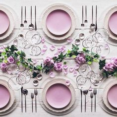 Perfectly pink tablescape
