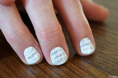 Paper nails for my mother