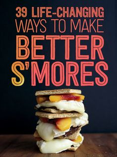 S'mores Hacks That Will Change Your Life 39 S'mores Hacks That Will Change Your Life I love S'mores. Gonna have to try some of S'mores Hacks That Will Change Your Life I love S'mores. Gonna have to try some of these! Camping Desserts, Camping Meals, Just Desserts, Delicious Desserts, Dessert Recipes, Camping Tips, Fire Pit Desserts, Camping Checklist, Camping Activities