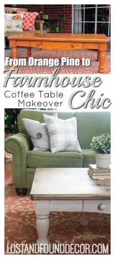 Pine Coffee Table Makeover Farmhouse Style | Lost & Found