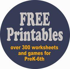 worksheets for kids - over 300 worksheets, games, lapbooks, and units for kids