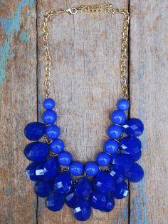 Palm Beach blue necklace