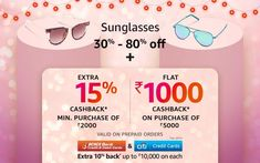 30% - 80% off | Sunglasses Amazon Sale, Kids Sunglasses, 30th, Cards, Accessories, Map, Playing Cards, Maps, Ornament