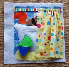 es la hora del baño, podemos poner jabones, juguetes, toallas agua..