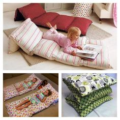 Sew Pillowcases Together To Make Floor Cushions & DIY Floor Pillow Bed Easy To Follow Video Instructions | Pillow ... pillowsntoast.com
