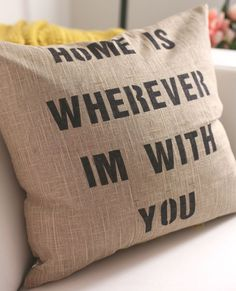 DIY Quote Pillows | This DIY tutorial will give you step-by-step instructions to making the most adorable (and custom!) quote pillows around!
