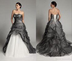 30 Amazing Black And White Plus Size Wedding Dresses
