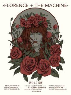 """""""Florence + the machine 2015 U.S. tour"""" by Diegoandradeart"""