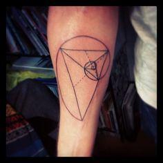 golden ratio, by klaus tattooer, Blackline, Brixton, London UK. http://instagram.com/klauslondon/